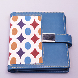 Leather Wallet Blue with fabric for sale alt Yazzy's