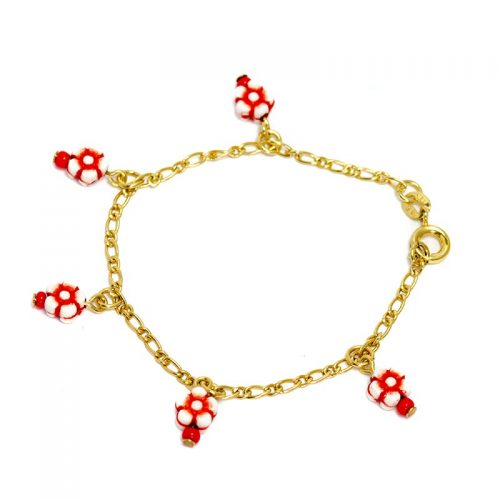 flowers red flower bracelet for children