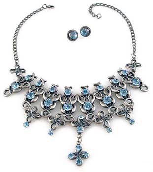 Swarovski art deco Necklace Set