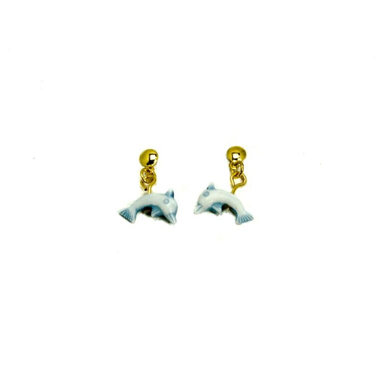 blue dolphins children earrings