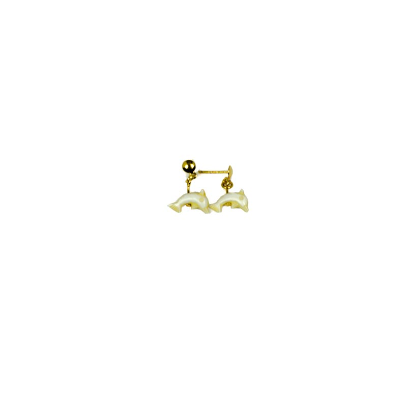 dolphin earrings kids yellow