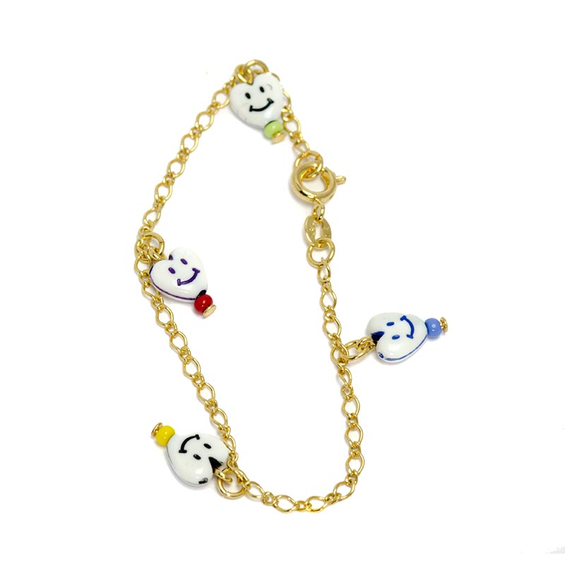 Heart smiley bracelet