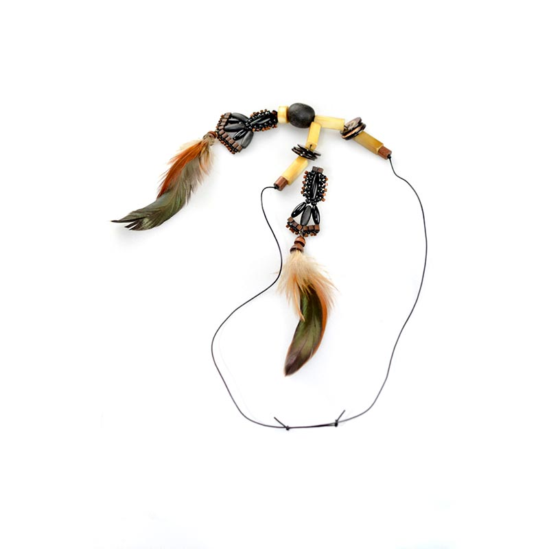 Boho Feathers Necklace Set 2 Boho Feathers Necklace Set