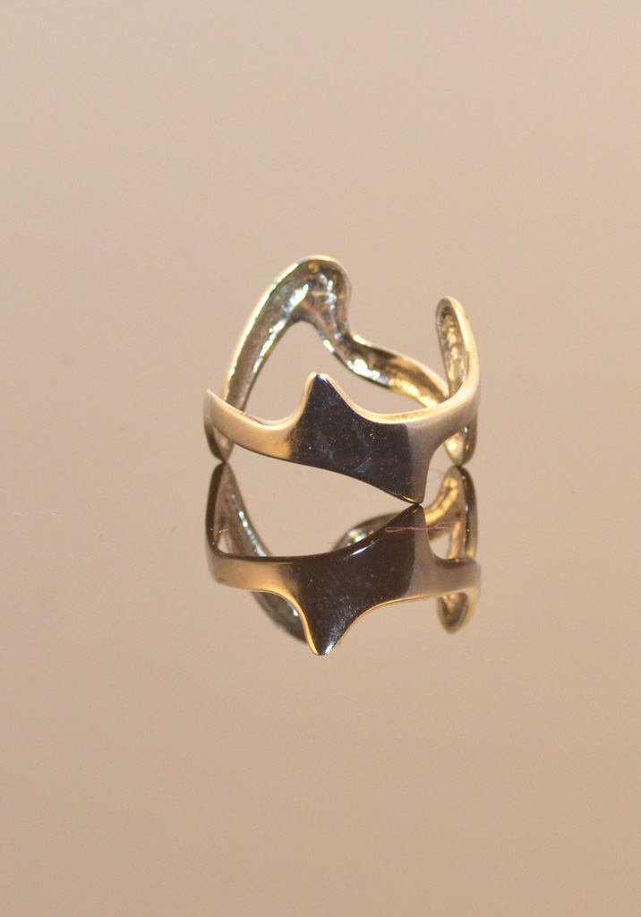 Silver Plated Ring Jagged Edge