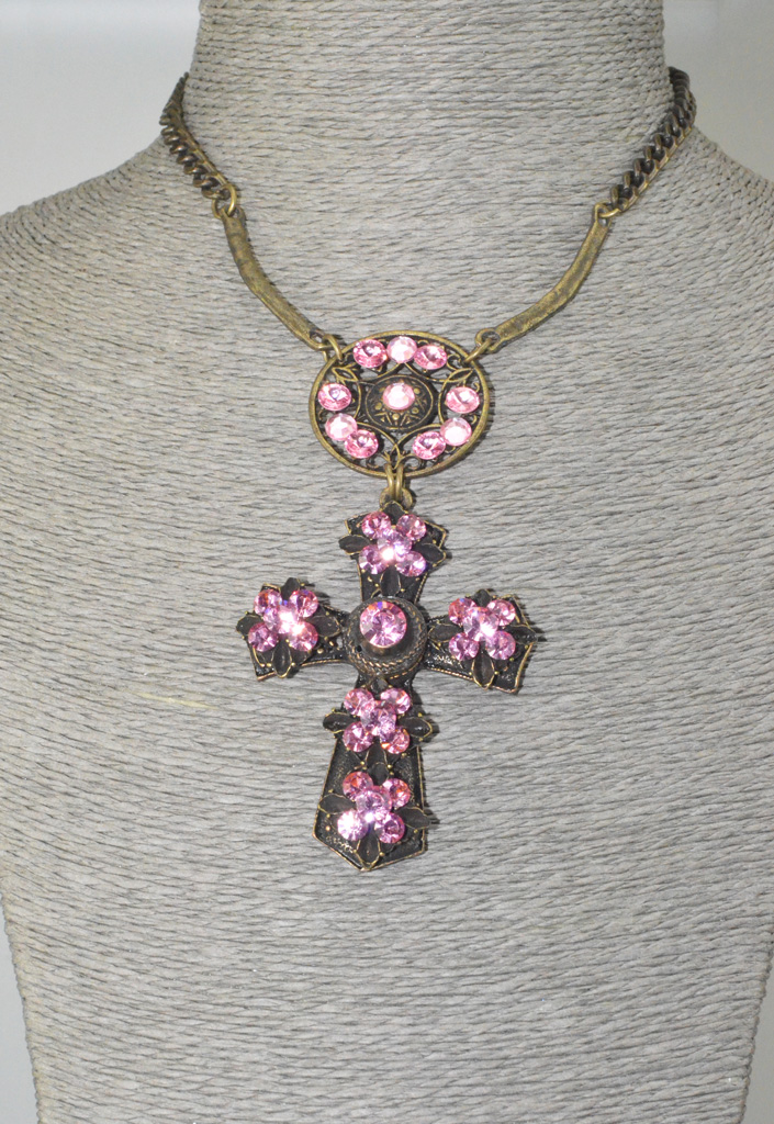 Cross set large Swarovski Crystals