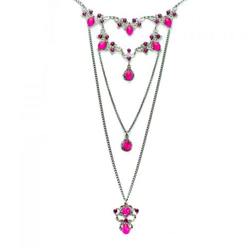 Long Necklace set Pink