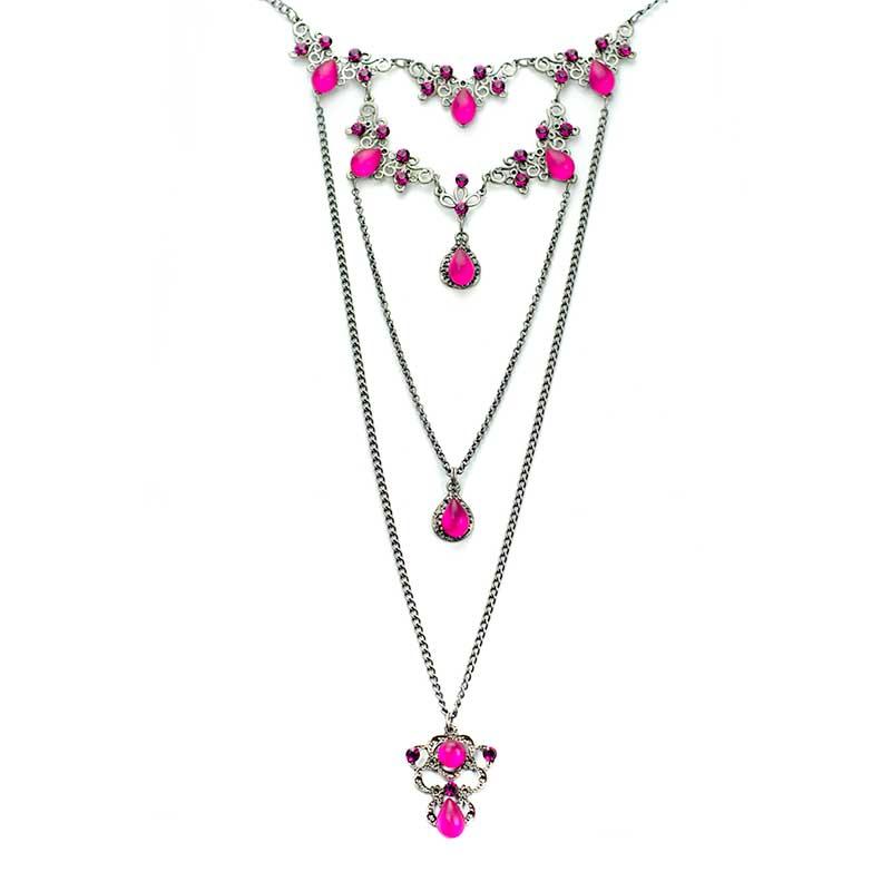 Layered Necklace Set Swarovski Yazzy S Fashion Accessories