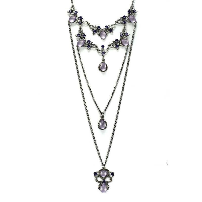 Long Necklace set purple