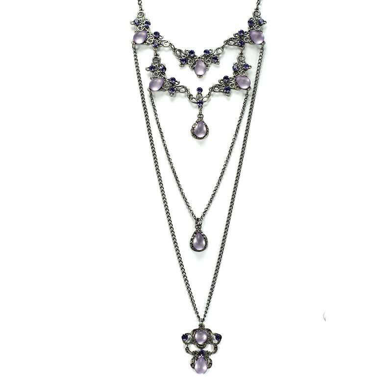 Long Necklace set purple