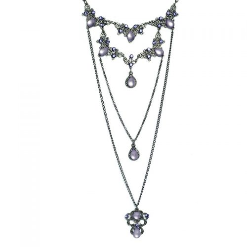 Multi Layered Swarovski Necklace set