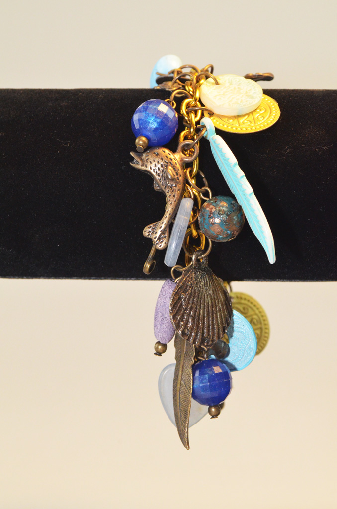 lb38220d Turquoise Bedelarmband
