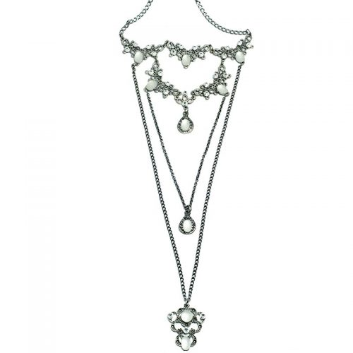 long Swarovski necklace set white