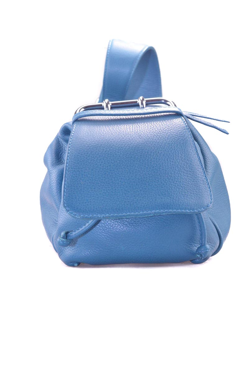 Petrol Blue leather handbag