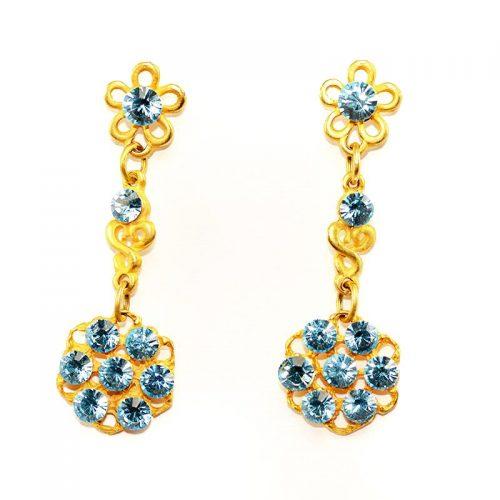 goud kleurige oorbellen