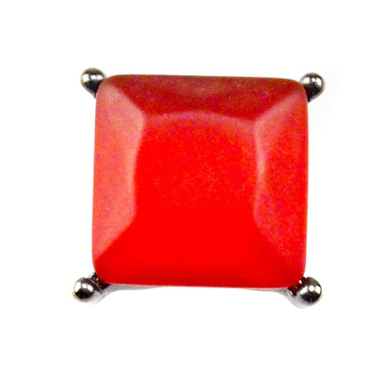 Ring with large red stone