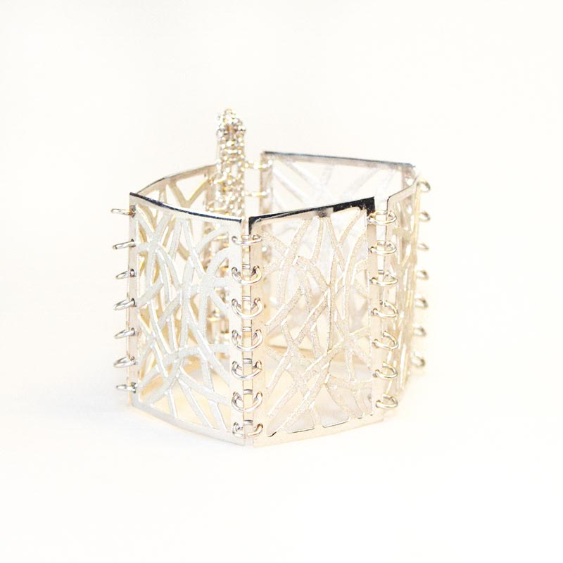Filigree bracelet silver plated