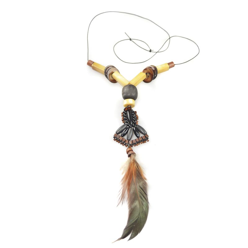 Boho Feathers Necklace Set
