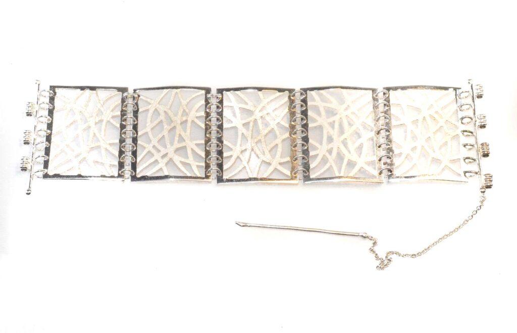 filigree bracelet silver plated