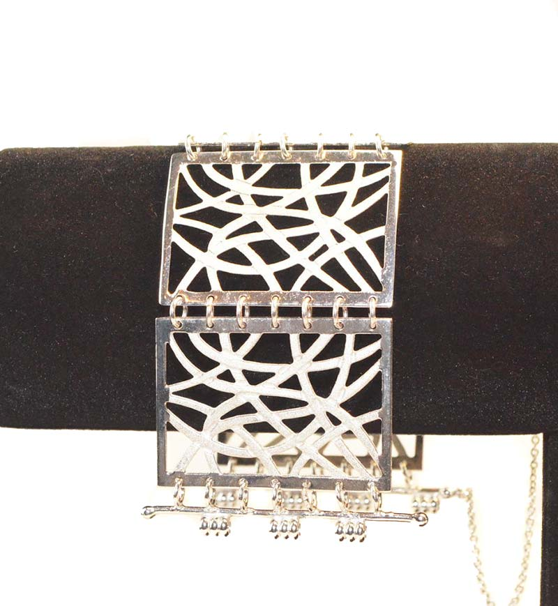 filigrain verzilverde armband