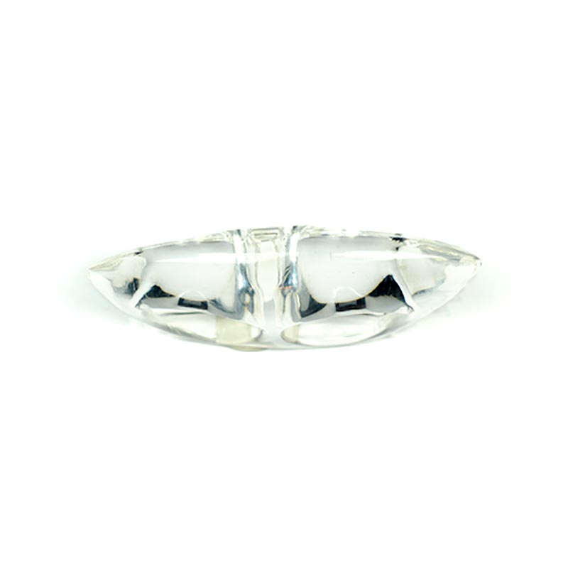 Acrylic double ring statement ring