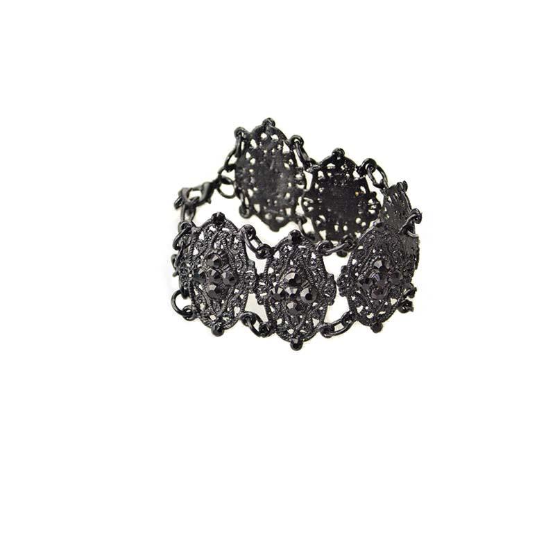 Gothic Bracelet with Swarovski crystals