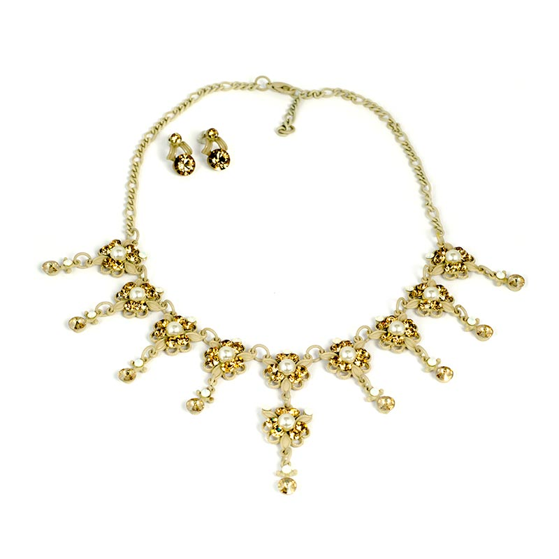 product rose swarovski dear shop gold en necklace medium plating web online white jewelry us