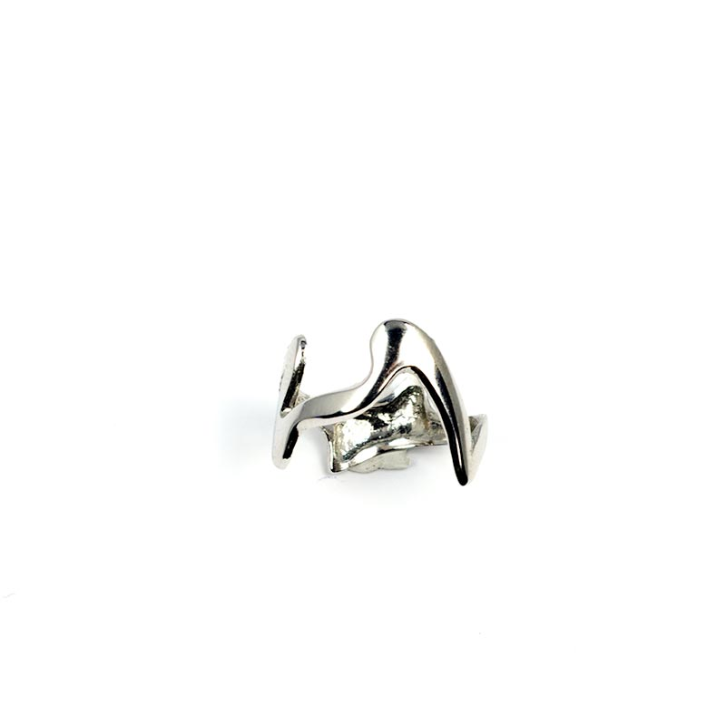 Ring Jagged Edge Silver plated