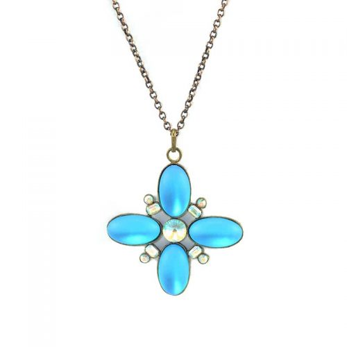 royal star necklace with strass
