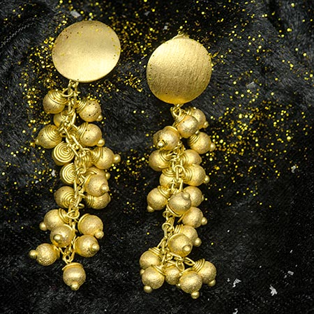 Gold Plated Spheres Earrings