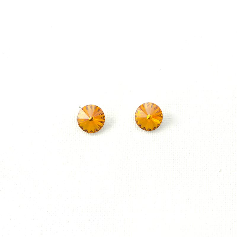 orange earrings swarovski crystals