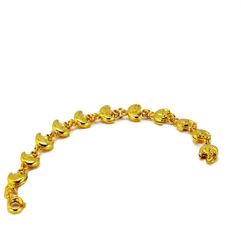 Bracelet half moon gold plated 1 1 Halve maantjes armband