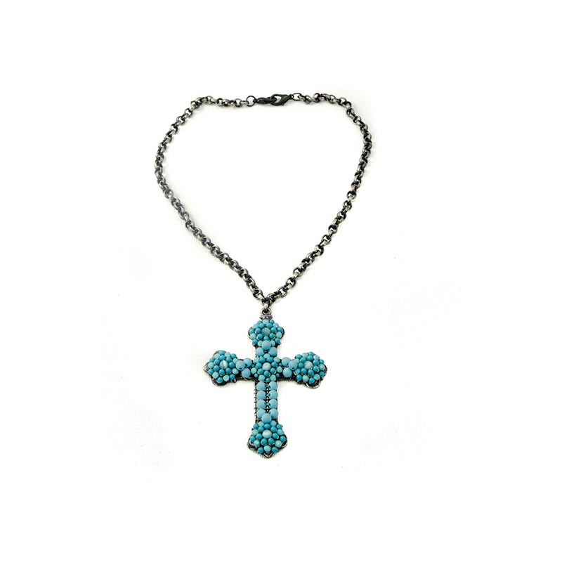Blue turquoise cross new arrivals