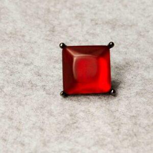 Ring Resina Red with dark metal Jewllry