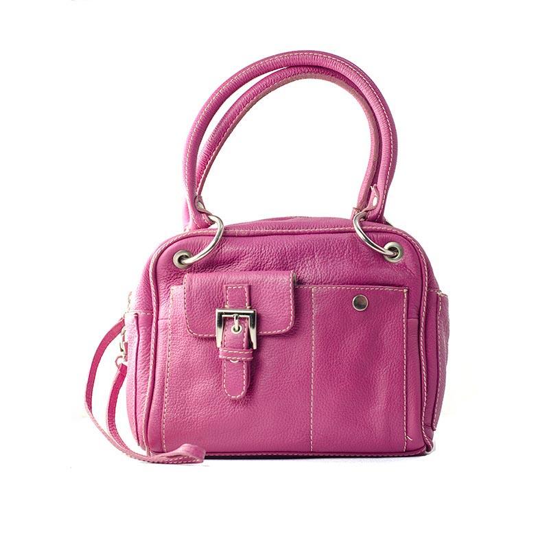 Hot pink Handtas voorkant met ritsluiting