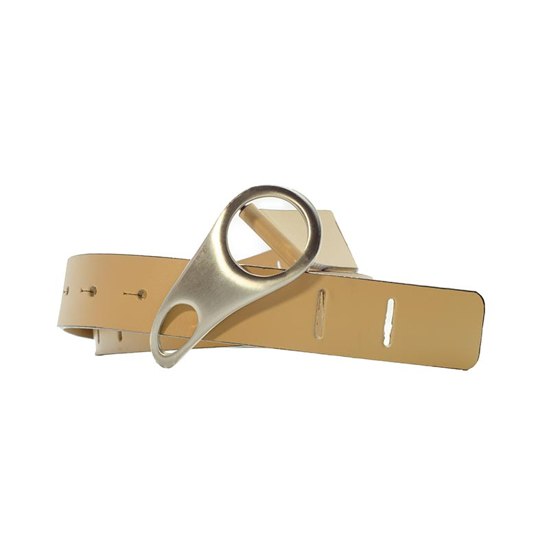 Beige Belt with special buckle