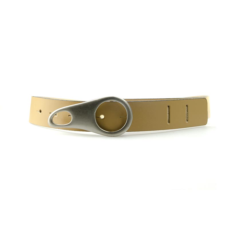 Leather belt with special buckle