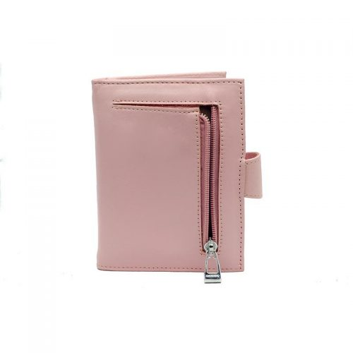 Leather Pink Wallet back