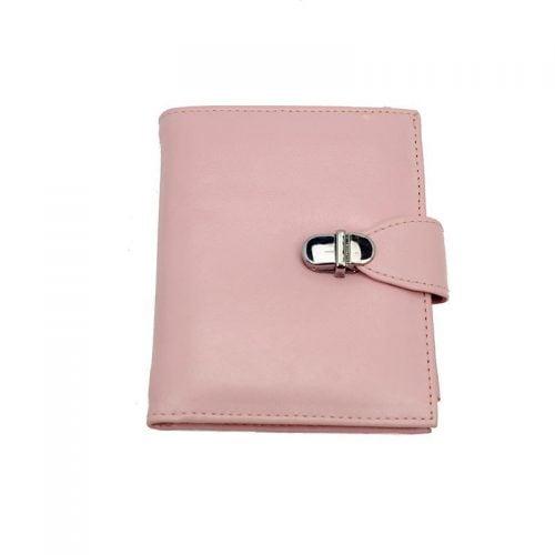Lederen roze portemonnee