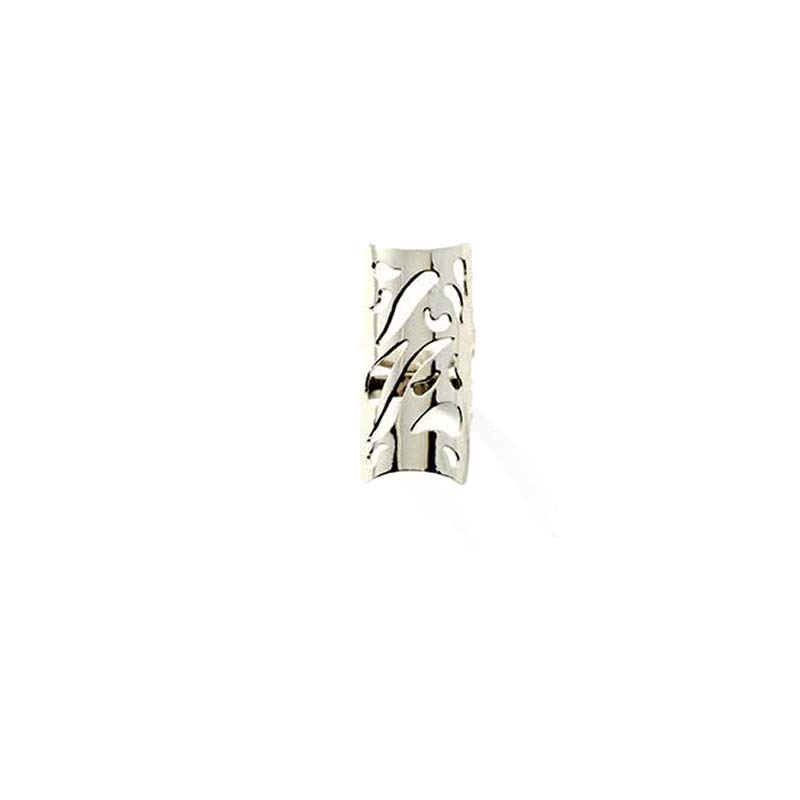 Tattoo Ring Silver Plated