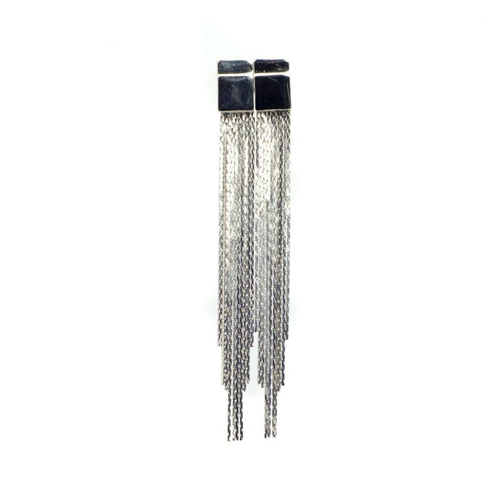 Silver plated Chandelier earrings