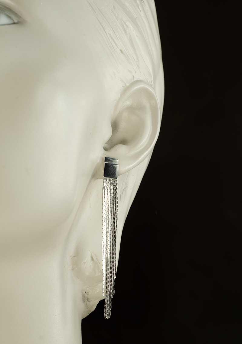 Silver Plated long earrings