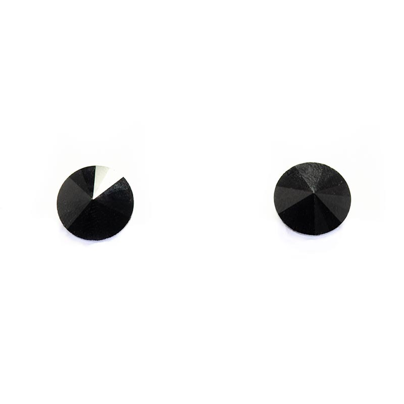 Swarovski Black Studs Matte Earrings Matte