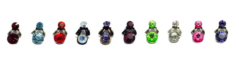 Swarovski earrings colours