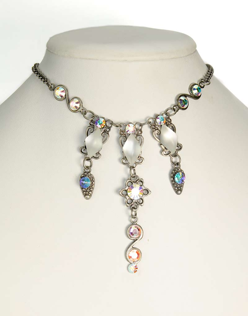 Swarovski Necklace set Aurora Borealis