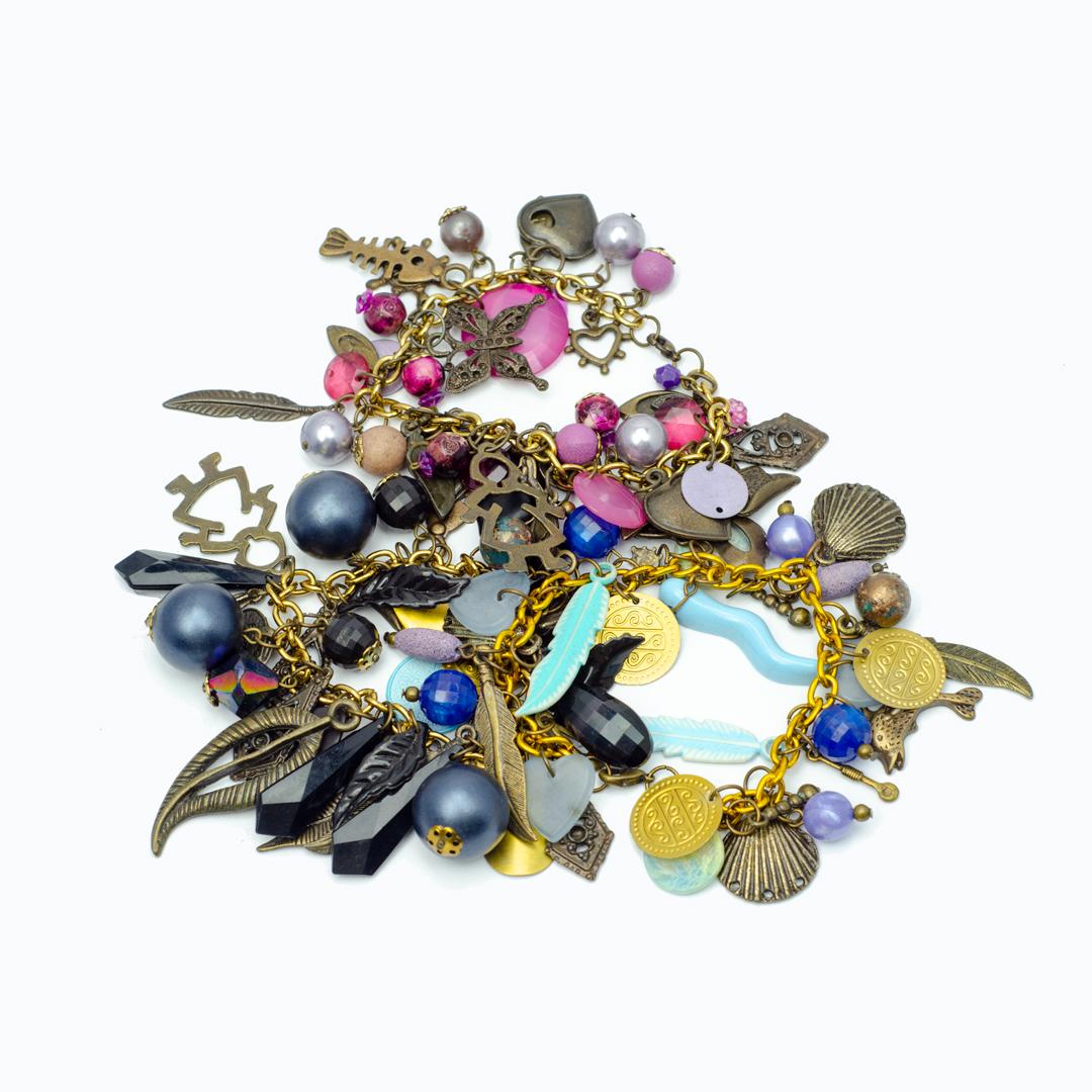 Trio of Charm Bracelets