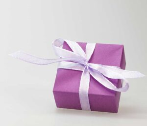 Gift wrapping for smaller gifts at Yazzy's