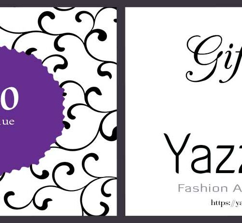 Ten Euro Gift card Yazzy's Fashion Accessories