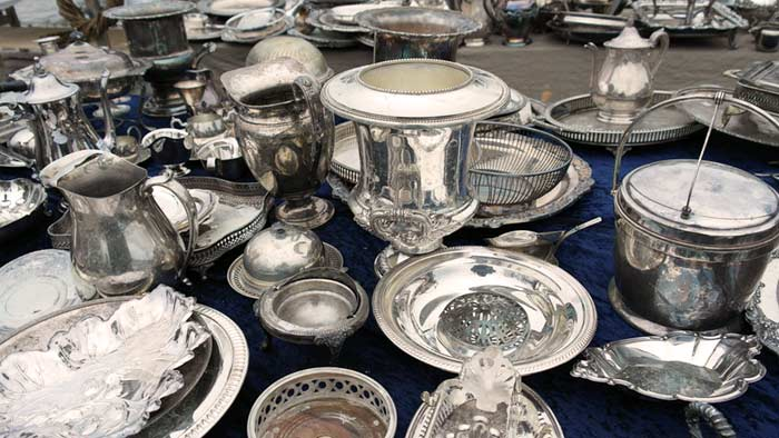 silver plated houseware