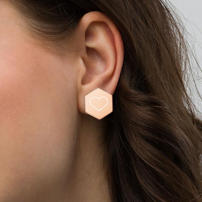 oorbel in oor rose goud