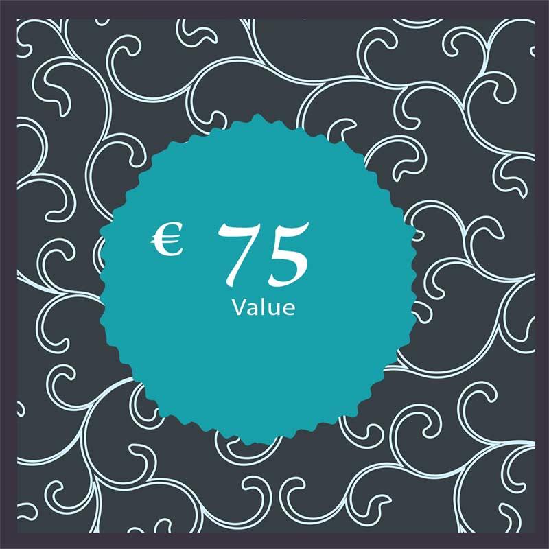75 euro Cadeaubon € 75